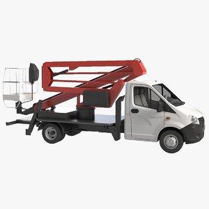 truck gazelle auto hydraulic lift 3d model