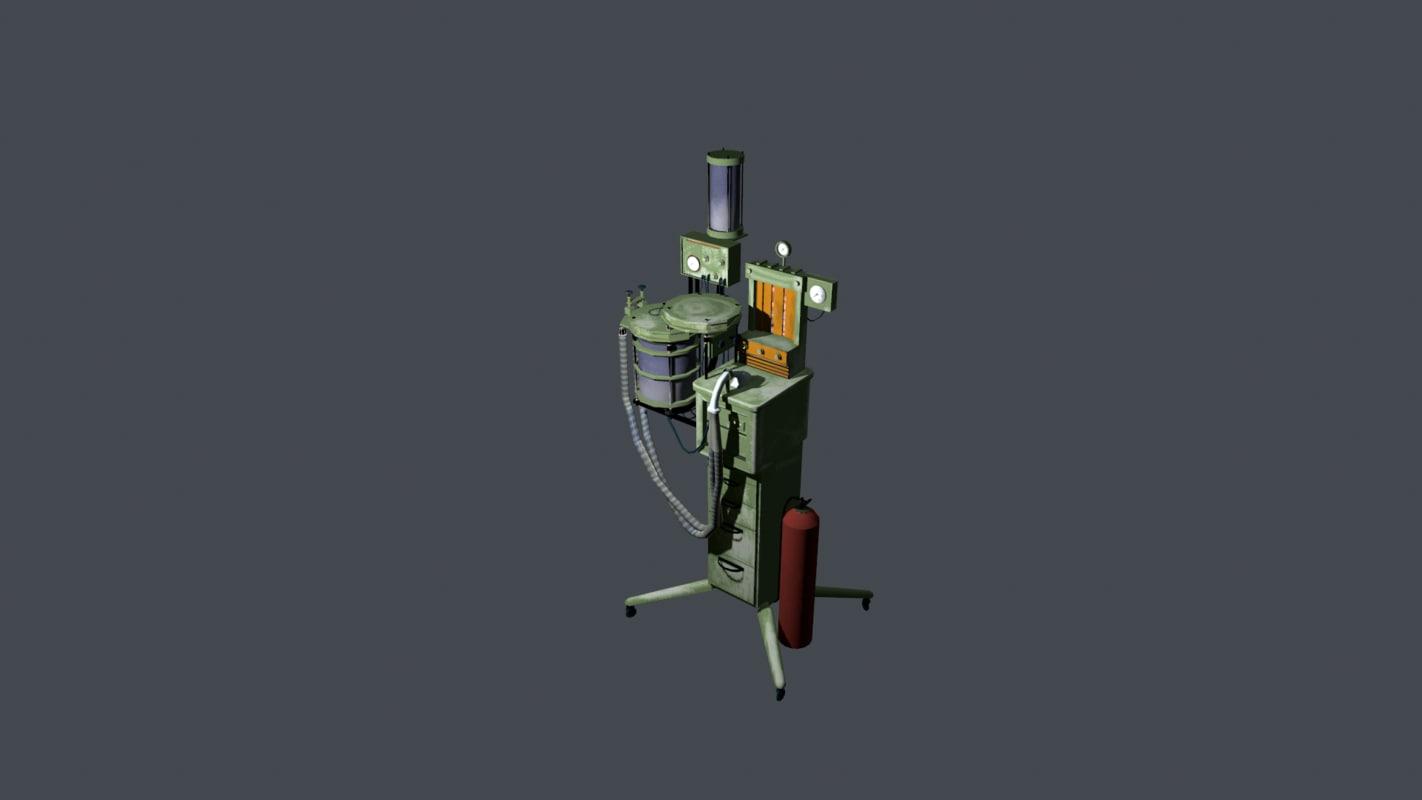 artificial respiration apparatus 3d model