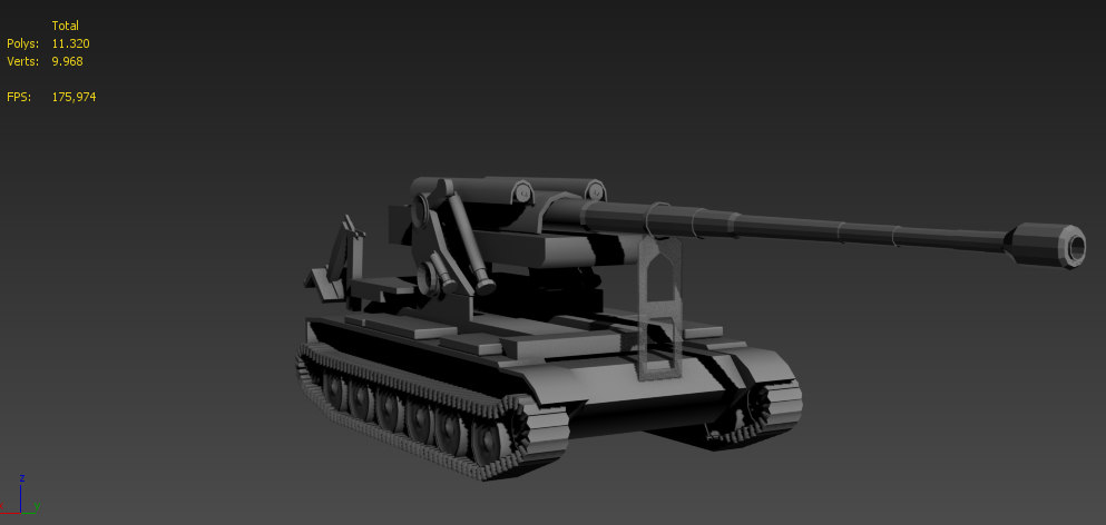 3d model m1989 military tank