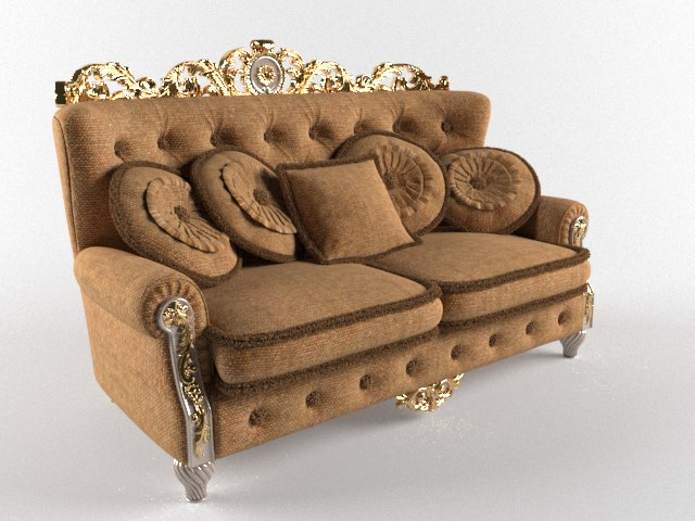 3d sofa classic fabric model