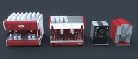 3d model coffe machine