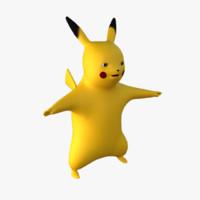 3d max pokemon pikachu