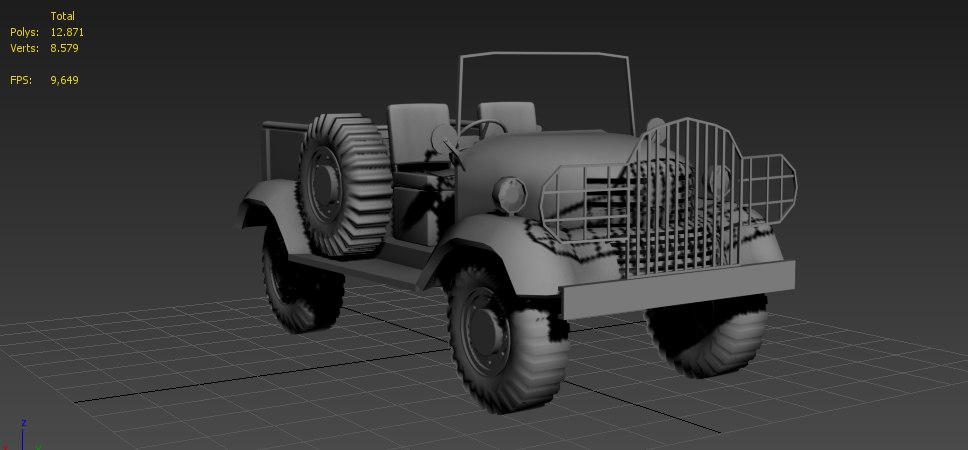 3d model vc5 military jeep