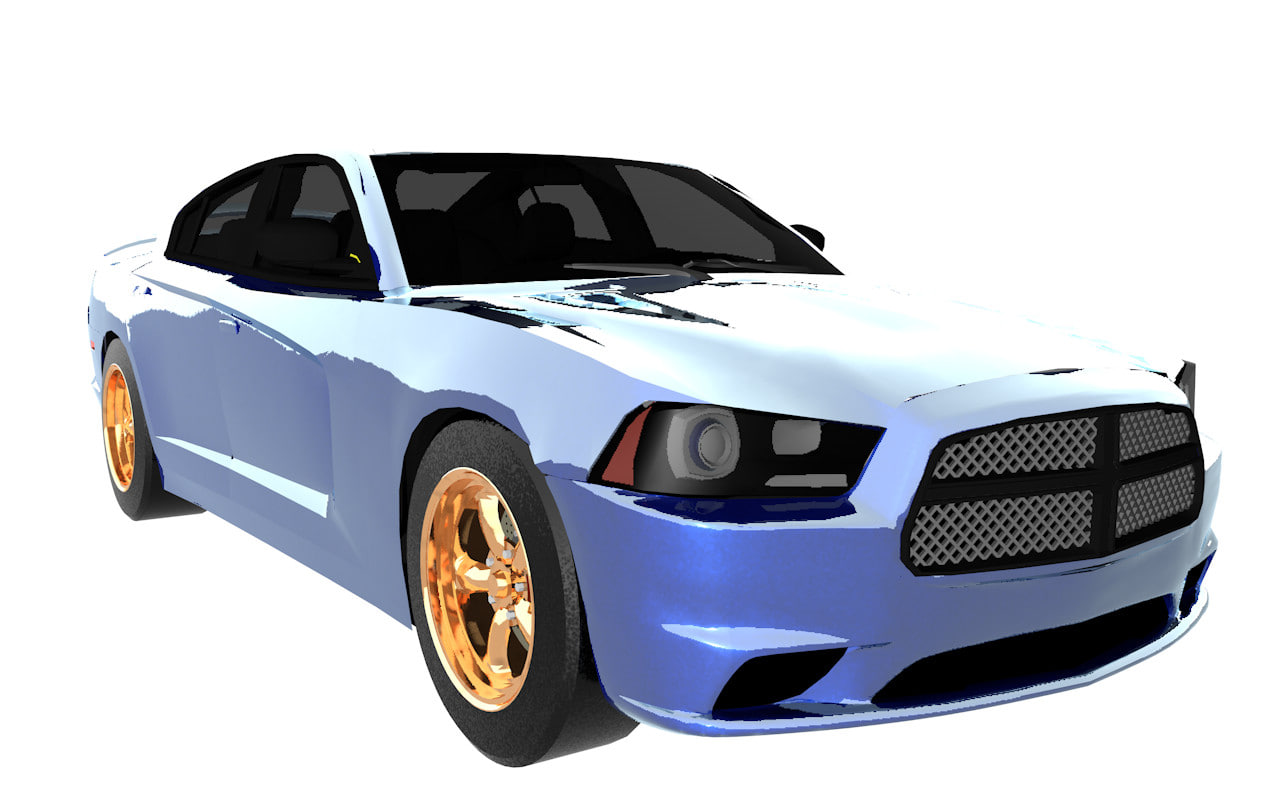 3d dodge charger 2011