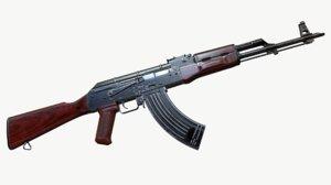 akm automatic rifle ak-47 3d model