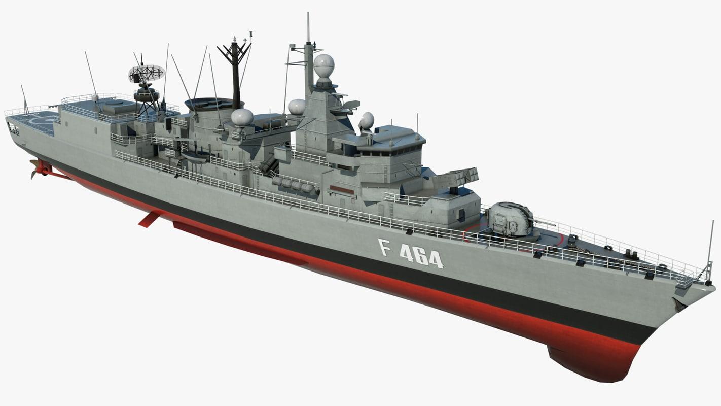 3d model large navy ship kanaris