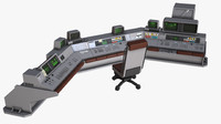 max sci fi control desk