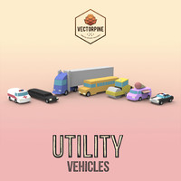 utility vehicles van 3d obj