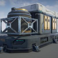 Sci-Fi Facility 01 - game model