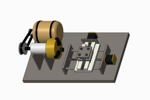 3d model lathe machine