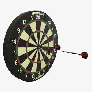 sportcraft dartboard darts 3d model