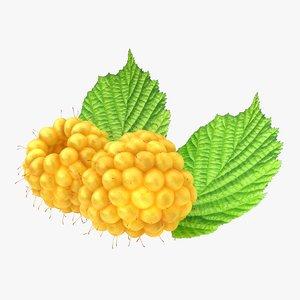 3ds realistic raspberry yellow