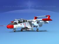 propellers usaf rockwell ov-10 bronco 3d model