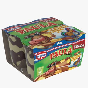 3d model packaging paula pudding