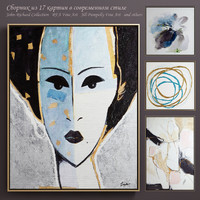 The collection of contemporary paintings set-6