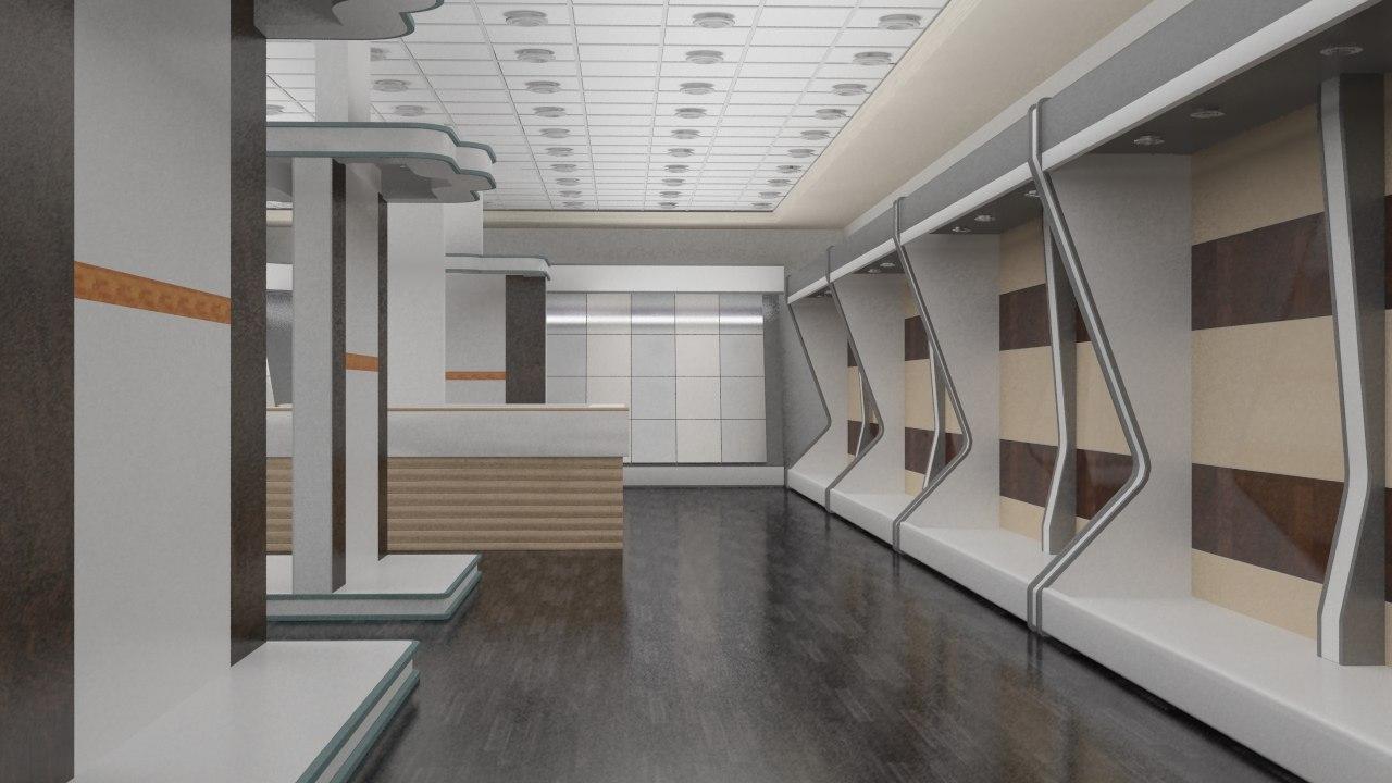 showroom tiles 3d model