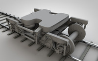 train chassis 3d 3ds