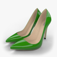 realistic green stiletto shoes max