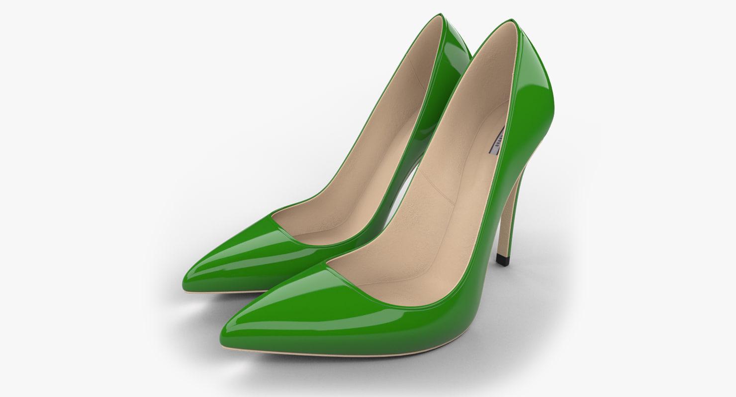 realistic green stiletto shoes max