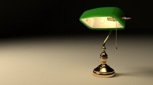 obj banker lamp