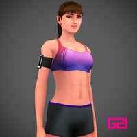 character runner girl run 3d model