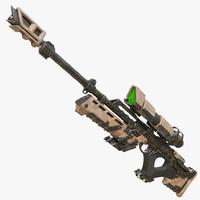 3d model sniper rifle sci-fi
