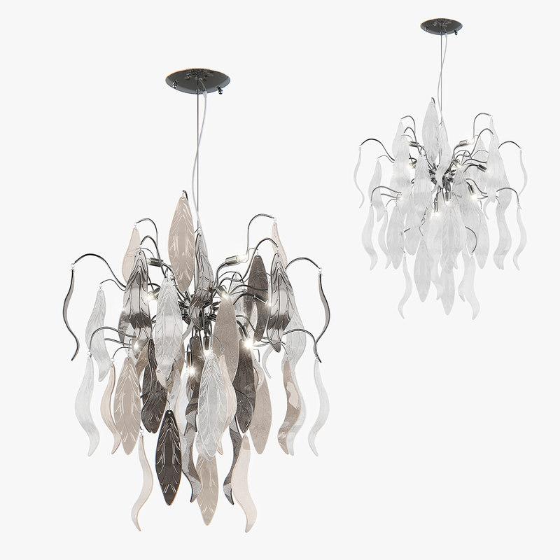chandelier vetro lightstar 3d max