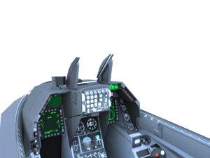 f-16c cockpit f-16 3d obj