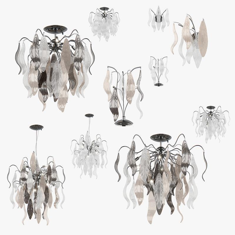 3d chandelier vetro lightstar lamp