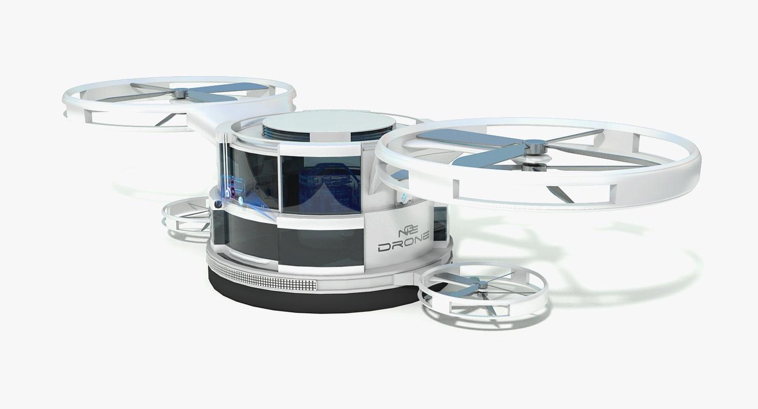 3d sci fi drone concept