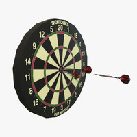 sportcraft dartboard darts polys 3d max
