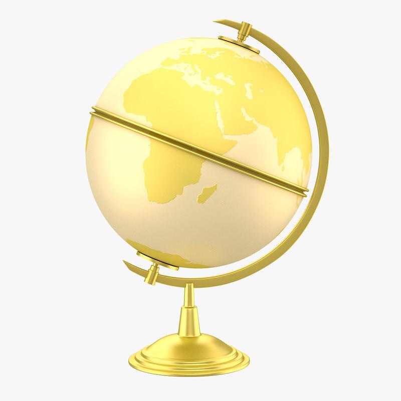 antique globe 3d obj