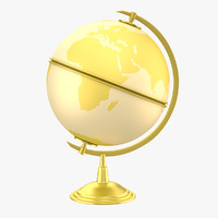 antique globe 3d obj