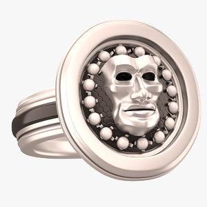 3d face mask ring