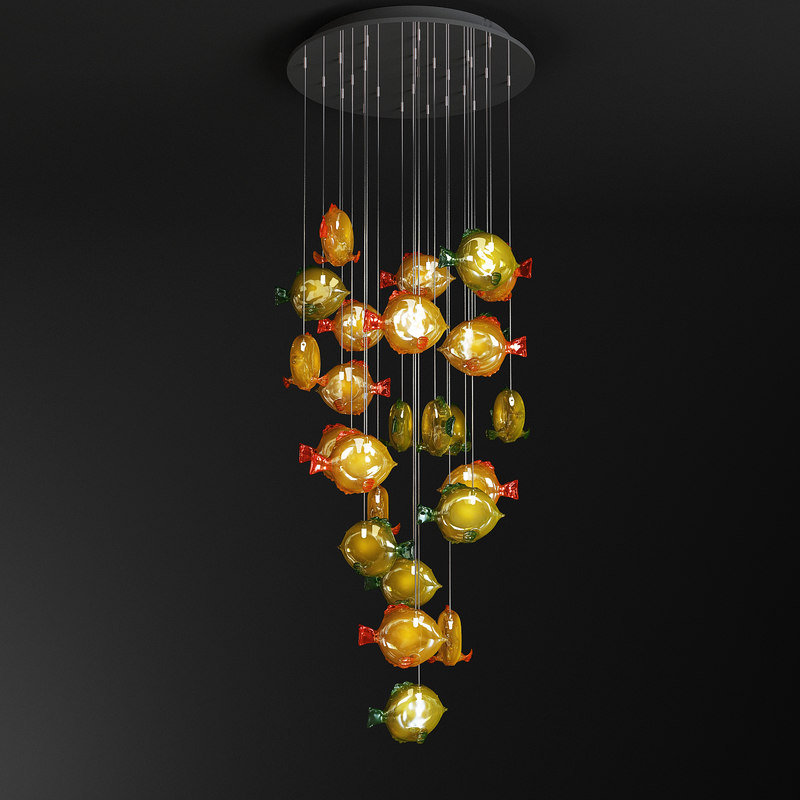 obj chandelier art murano