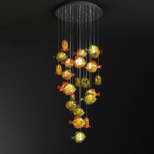 obj chandelier art murano