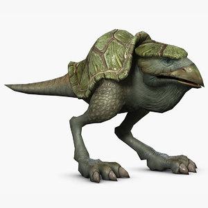 tortoiseshell ostrich character rig 3d max