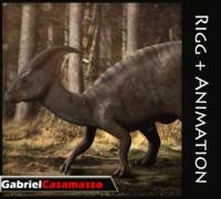 3d parasaurolophus parasaur model
