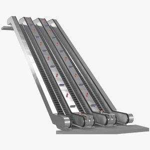 3d undeground escalator london model
