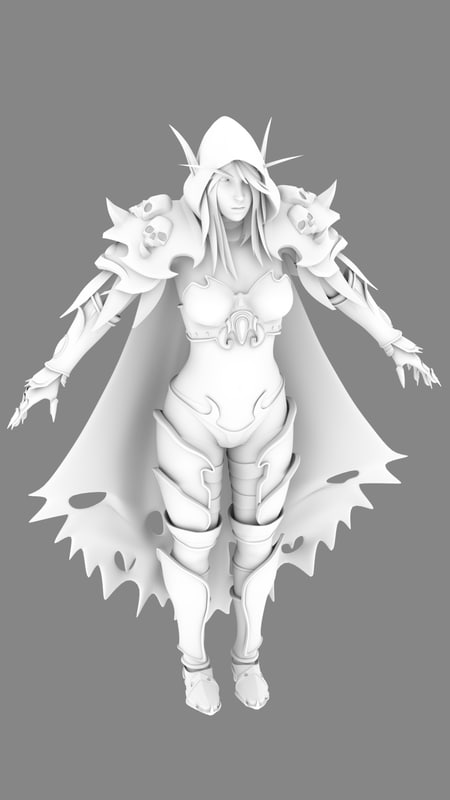 3d model sylvanas windrunner
