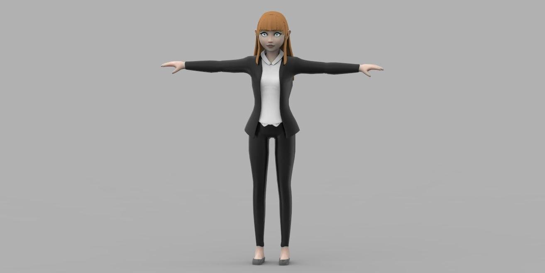 obj female character school girl