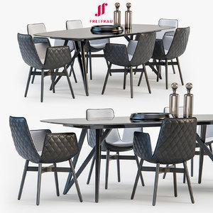freifrau dining set 02 3d max