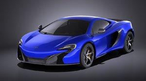 3d model coupe 2017 mclaren