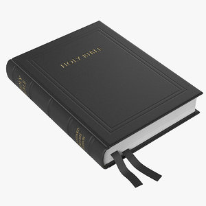holy bible book 3d model