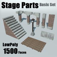 3d set parts stage - model