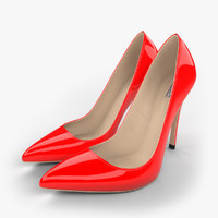 realistic red stiletto shoes 3d max