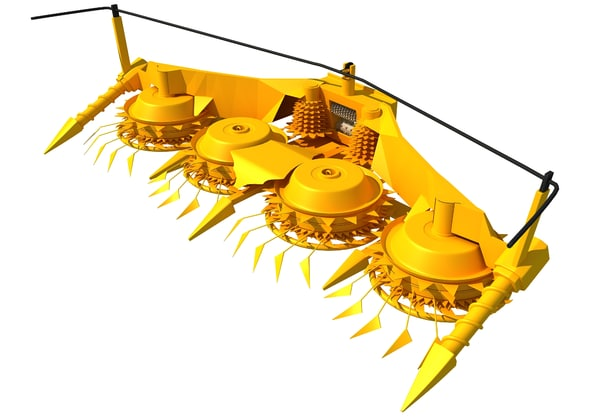 combine forage threshing header 3d model