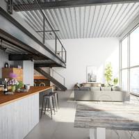 Loft Style Living Room v4
