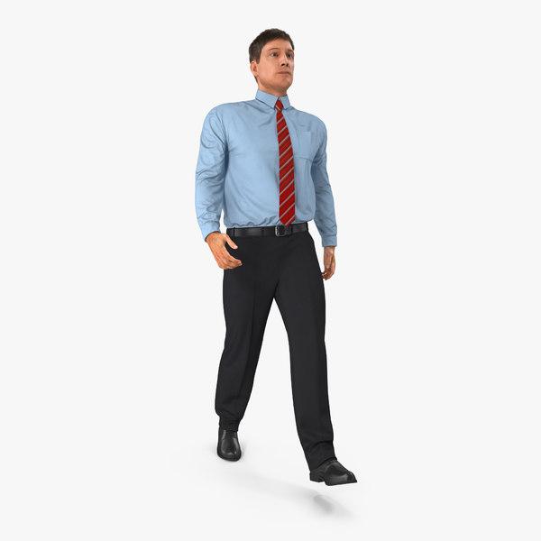 office worker walking pose 3d model