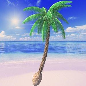 beach palm tree 3d max